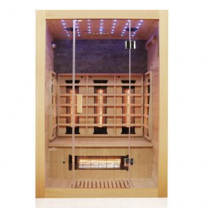 Infrarotsauna | Wärmekabine Milton 135 | Vollspektrumstrahler, Hemlockholz