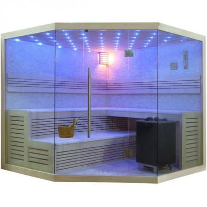 Biosauna / Traditionelle Saunakabine SPA due, 200 x 200 cm